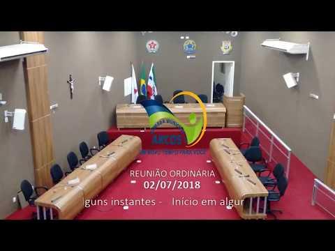 Reunião Ordinária (02/07/2018) - Câmara de Arcos