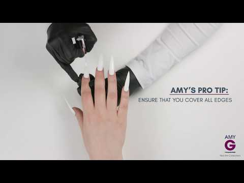 How to apply metal nail decorations - Amy G Nail Art Collection