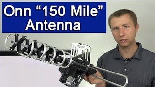Onn 150 Mile Outdoor HD TV Antenna Setup and Review