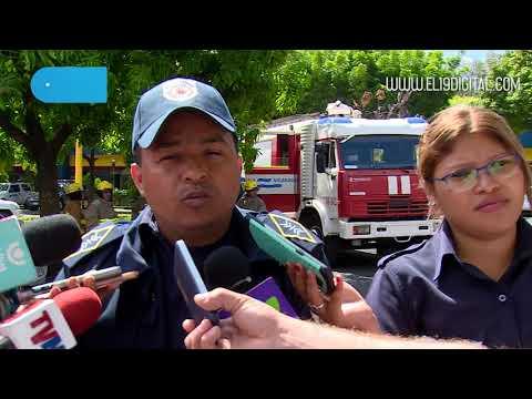 Bomberos realizan plan de prevención contra incendios en el Centro Comercial Managua