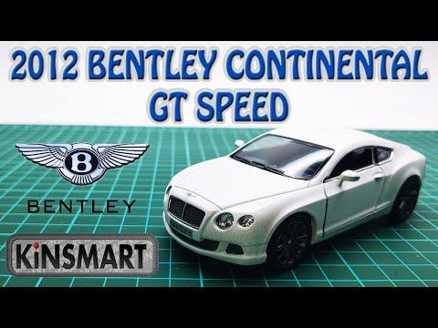 Металлическая машинка Kinsmart 1:38 «2012 Bentley Continental GT Speed» KT5369D, инерционная / Микс