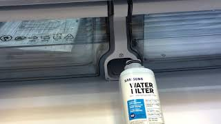 How to change the water filter on Samsung 4-door French Door refrigerator.