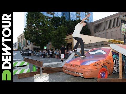Alec Majerus Skateboard Streetstyle 2nd Place Run - 2014 Dew Tour Portland