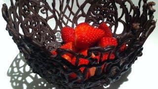 Шоколад, How to make a CHOCOLATE BOWL using ice How To Cook That Ann Reardon