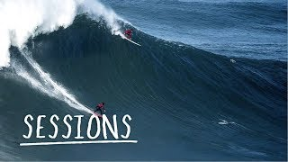 Nazaré XXL Paddle Session in Unforgiving Conditions