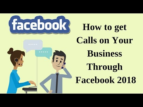How to get calls on your business through facebook 2018