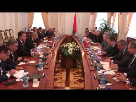 لقاء الوزير/طارق قابيل بالنائب الأول لرئيس الوزراء البيلاروسى