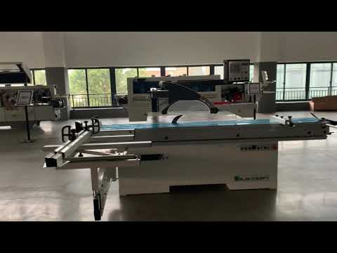 Automatic Sliding Table Panel Saw With Auto Rip Fence Unit