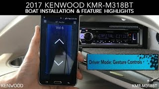 KENWOOD KMR-M318BT 2017 Boat Installation & Feature Highlights