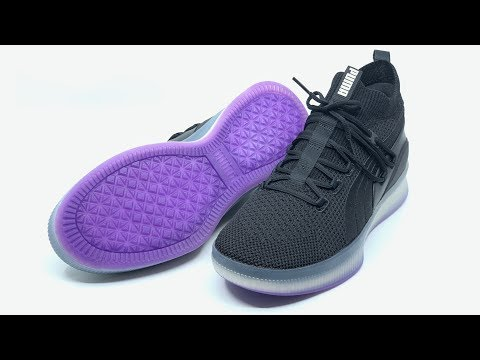 f79d19866e2 Puma Clyde Court Disrupt Men s Basketball Shoes (Puma Black Electric Purple ) 4K