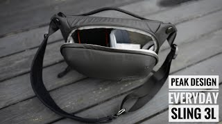Peak Design Everyday Sling 3L - unboxing and first impression - my new EDC BAG