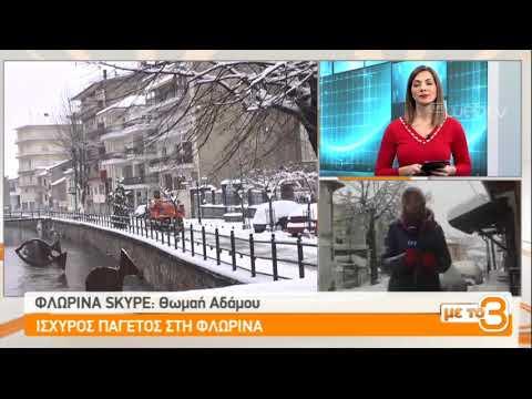 Παγετός και κλειστά σχολεία στη Φλώρινα | 09/01/2019 | ΕΡΤ