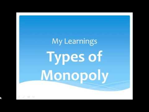 Types of Monopoly - HSC, Class 11, Class 12, Economics