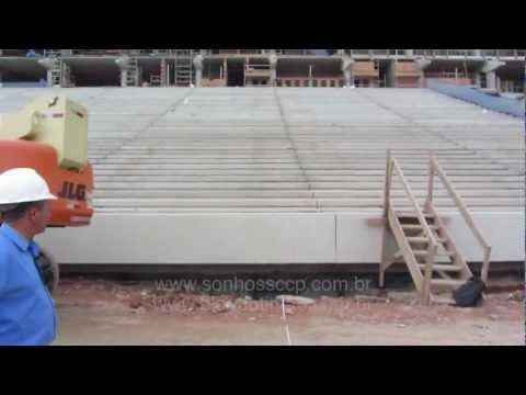 Medidas oficiais da Arena Corinthians - 04/11/2012