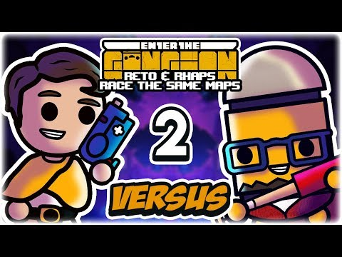 The Great Casey Fight | Part 2 | Enter the Gungeon vs. Rhapsody | Reto & Rhaps Race the Same Maps