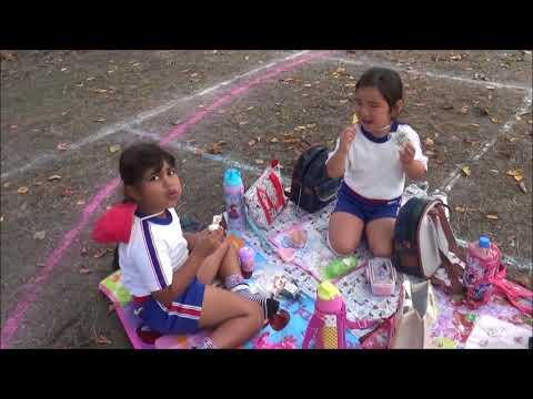 笠間 友部 ともべ幼稚園 子育て「練習のあとのおにぎりお弁当」