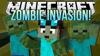 ZOMBIE INVASION   Minecraft: Blocking Dead Minigame!