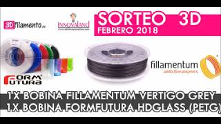 Sorteo 3D febrero 2018. Bobinas filamentos 3D Fillamentum y Formfutura
