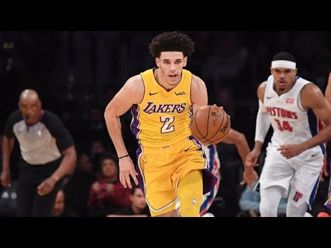 Lonzo Ball brings swagger in Los Angeles Lakers' win over Detroit Pistons | ESPN
