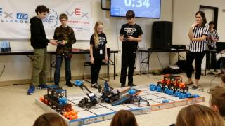 February 4, 2017 Tournament at Colorado Youth Outdoors – Qualifying Match with Berthoud Robotics Club's Team #1069J, Juggernaut