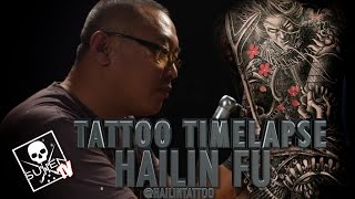 Tattoo Time Lapse - Hailin Fu (3 Day Back Piece)