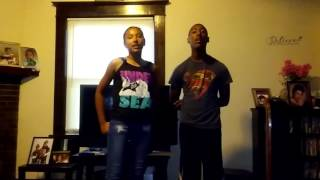 Ari singing blood sport with her Bro Anthony