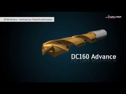 DC160 ADVANCE SOLID CARBIDE DRILL. Can be used universally, strong performance.