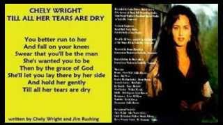 Chely Wright - Till All Her Tears Are Dry ( + lyrics 1994)