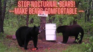 Bear hunting: Make bears comfortable.