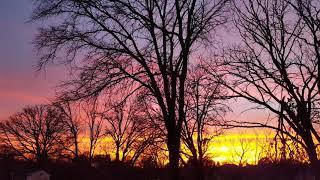 Eastern Iowa Sunset, 11/27/17 - Video Youtube