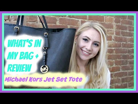 Michael Kors Jet Set Tote: What's in My School Bag + Review!