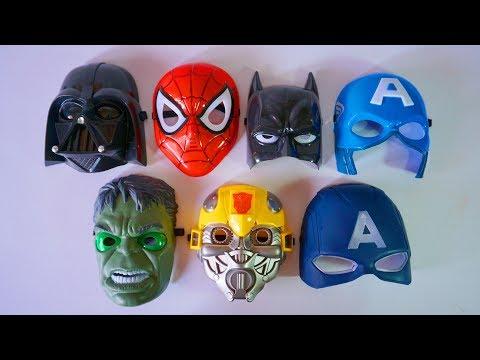 Beraksi Pakai Topeng Superhero Bisa Menyala | Hulk Spiderman Kapten Amerika Batman Bumblebee
