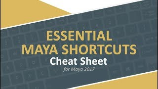Maya 2017 Essential Shortcuts Keys