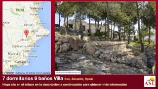 preview picture of video '7 dormitorios 6 baños Villa se Vende en Sax, Alicante, Spain'