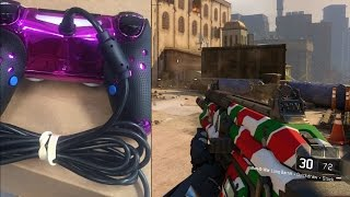 WIRED PS4 CONTROLLERS! (Black Ops 3 Gamebattles)