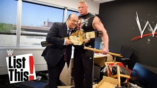 5 forgotten Brock Lesnar moments: WWE List This!