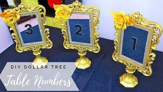DIY Dollar Tree 💎 Glamorous Table Numbers for Wedding Table