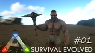 Ark Survival Evolved Ep 01 - Epic Adventure Begins (Server Let's Play)