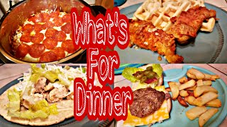What's For Dinner ? Large Family Dinners Of The Week