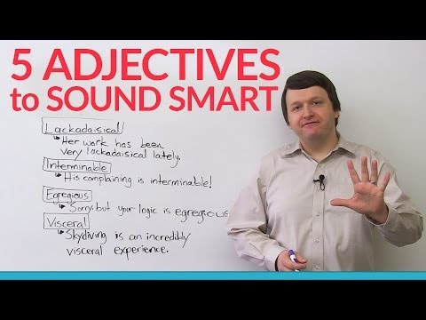 5 adjectives to sound smart