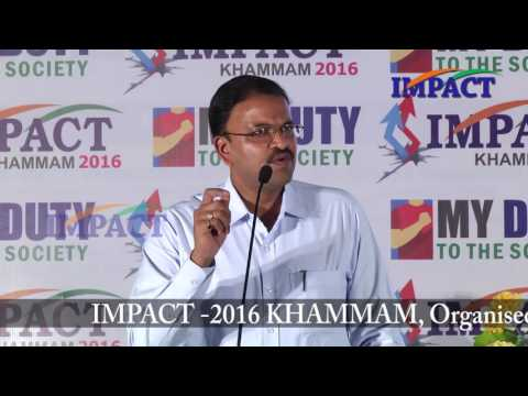 Make India Great|JD Lakshmi Narayana|TELUGU IMPACT Khammam 2016