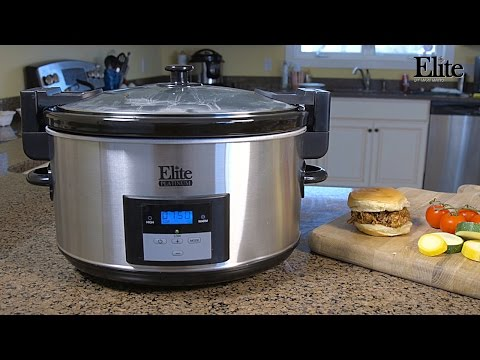 , Elite Platinum MST-900D Maxi-Matic 8.5 Quart Digital Programmable Slow Cooker