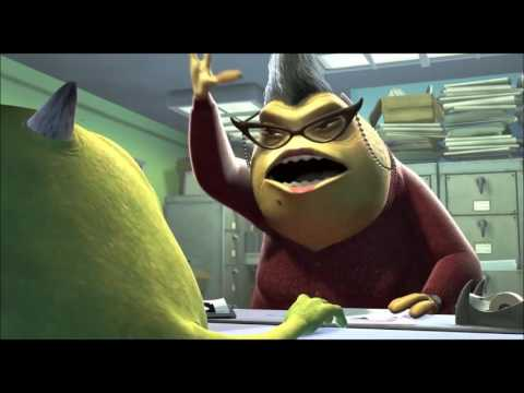 I want my mama but every i want my mama is replaced with with Mike Wazowski getting Slamme slow/fast
