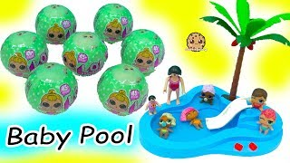 LOL Surprise Lil Sisters Babies Blind Bag  Color Change + Swim in Baby Water Pool