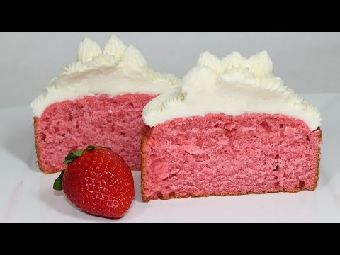 Video Strawberry Cake Recipe: How to make a homemade strawberry cake from scratch