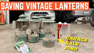 I Bought FOUR Vintage Coleman Lanterns At A GARAGE SALE *Will They Light?*