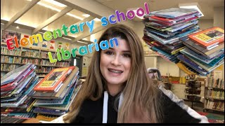 A day as a elementary school Library media technician 👩🏼🏫📚