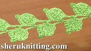 Crochet Twig Branch Cord Leaves Tutorial 39 Double Crochet Decrease