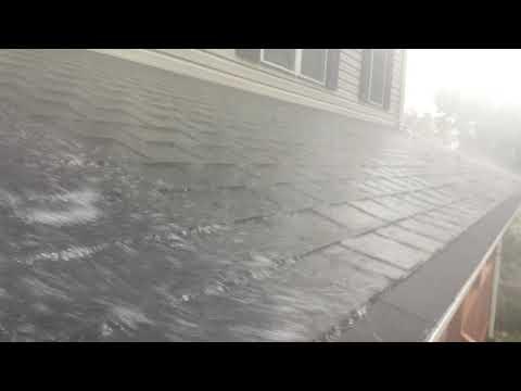 Raindrop Gutter Guards taking on Flash Rainstorm