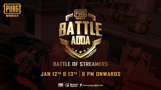 Battle Of Streamers | BATTLE ADDA DAY 2 | PUBG MOBILE